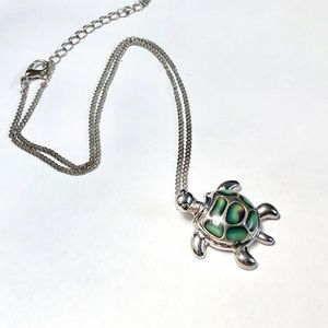 Sea Turtle Mood Changing Necklace